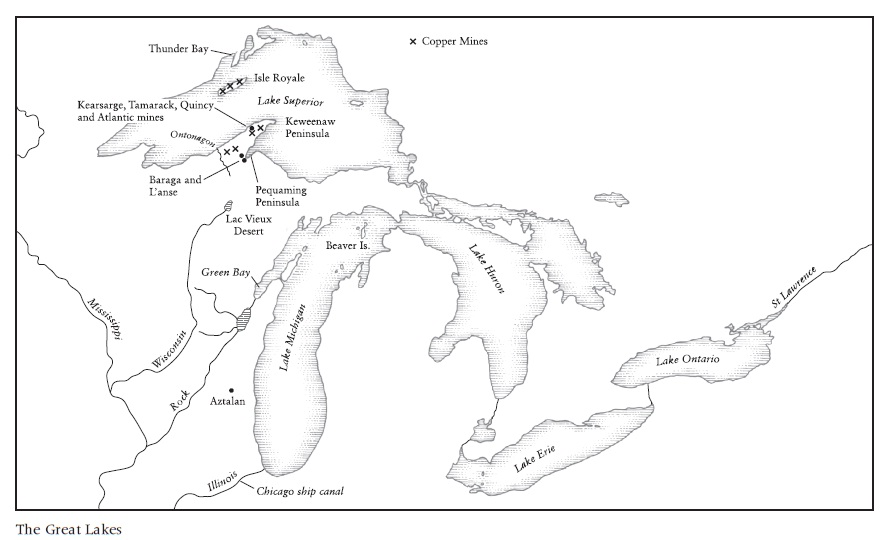 Great Lakes Blank Map Printable