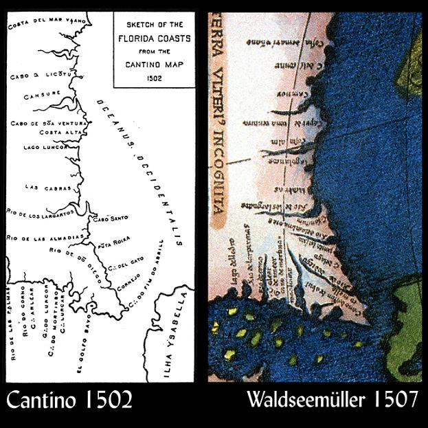 Florida Coastline Map.Maps The Lost Empire Of Atlantis 1421 1434 Chinese