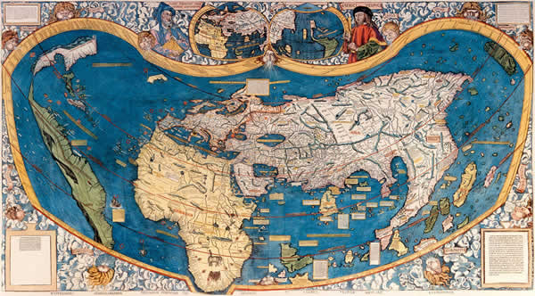 3 the europeans set sail with accurate maps that showed their virga world map 1410 map di virga world map 1410 gumiabroncs Gallery