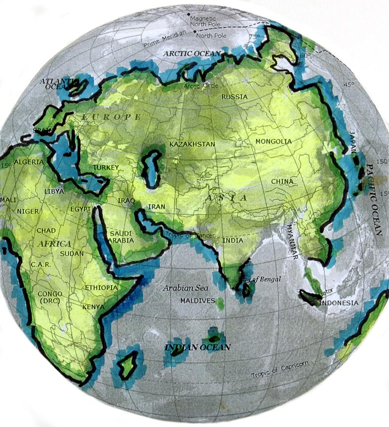 Map Gavin Menzies Presentation To Beijing Press - Norway encarta map